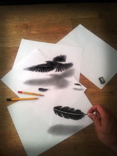3D Illusion Drawings by Ramon Bruin   Colossal