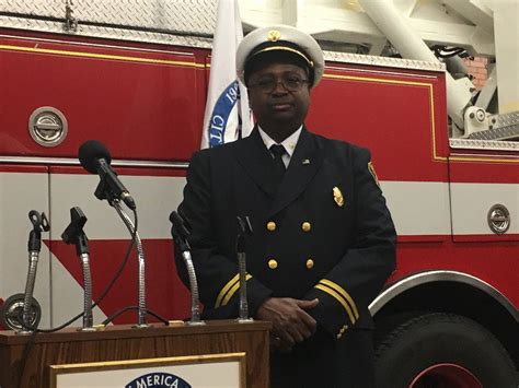 Clarence Tucker sworn in as Akron Fire Department's 19th