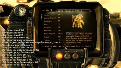 Fallout 4 console commands for PS4 after PC warning