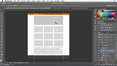Setting up a responsive web layout