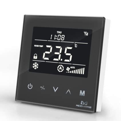 Z-Wave MCO Home Fan Coil Thermostat - 4 Pipe - Black