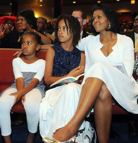 In June 2008, the Obama girls watched as then-candidate