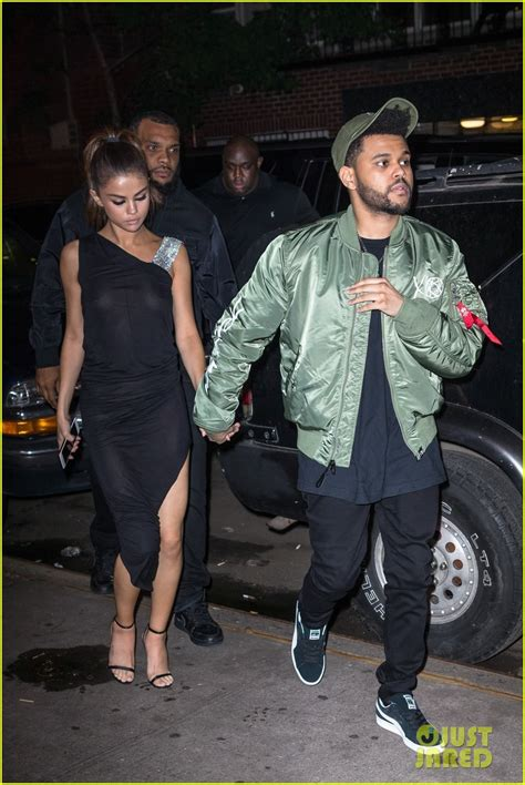 Selena Gomez Wears Sheer Dress for Date with The Weeknd