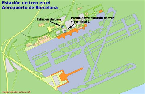 Map of Barcelona airport, location, directions, terminals