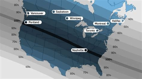 Solar eclipse map: track the path across Canada and the U