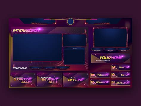 Overwatch Stream Overlay Template by Ovoz Graphics