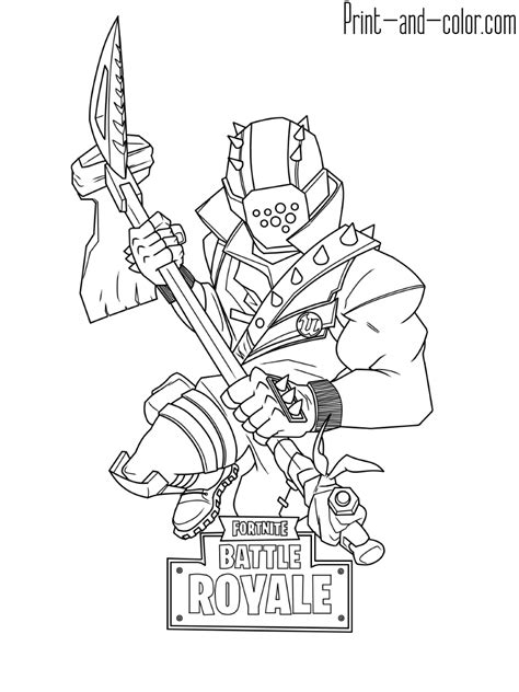 Fortnite coloring pages | Print and Color