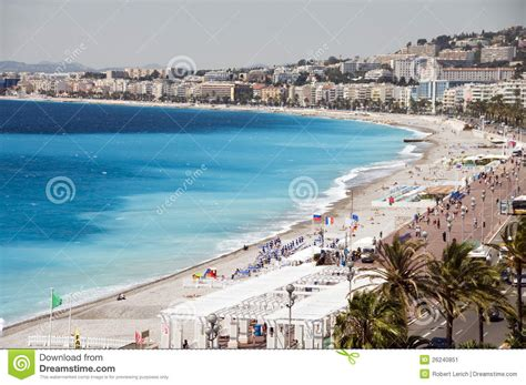 The French Riviera Nice France Beach Stock Image - Image