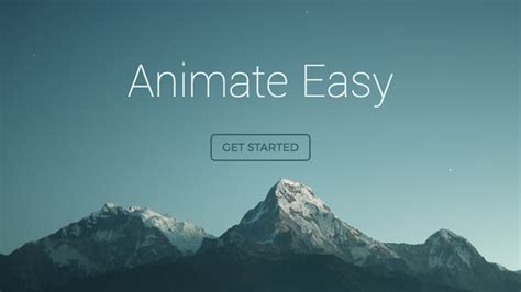 Full Screen Responsive/Animated Landing Page - HTML5