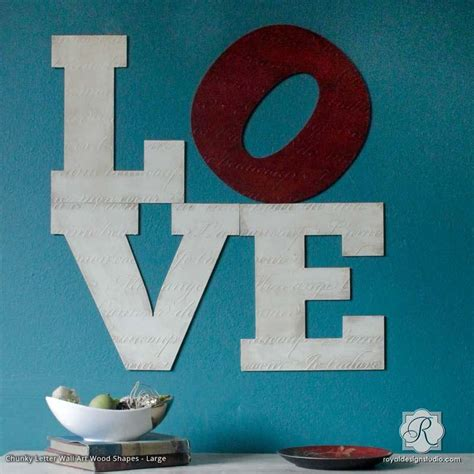French Love Letters Furniture Stencil   Stenciling for DIY