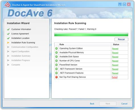 Al's Tech Tips: DocAve 6: Installation Rule Scanning: TCP