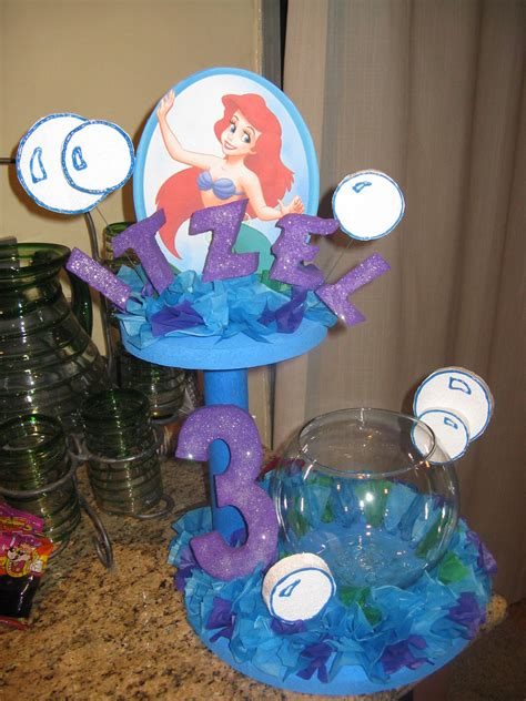 Little Mermaid Decorations   I made this to decorate the