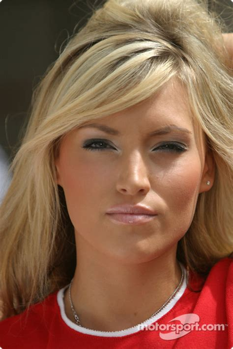An Hawaiian Tropic girl poses at 24 Hours of Le Mans