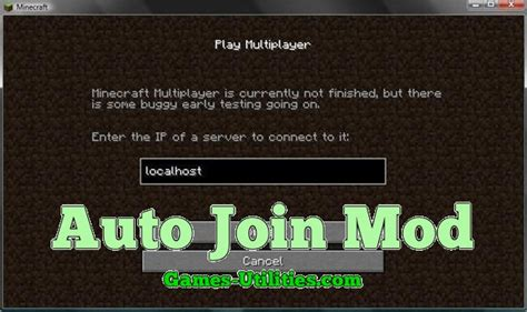 Auto Join Mod for Minecraft 1