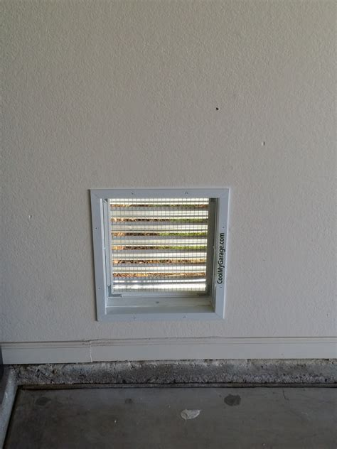 Through The Wall Air Intake Ventilation Vent - Cool My Garage