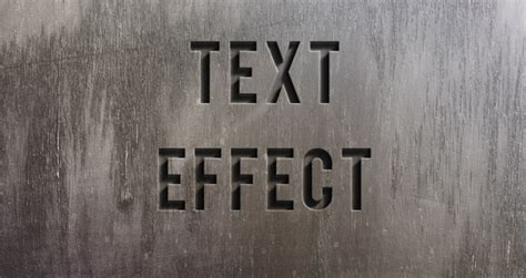 Psd Engraved Stone Text Effect | Photoshop Text Effects